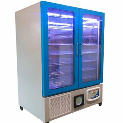 Meditech Plastic And Stainless Steel Glass Door Refrigerator 350 L