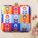 Multicolor Printed Box Clutch