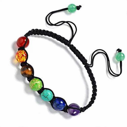 2cf7ee5607b Multicolor Chakra Healing Bracelet, Size: Free Size, Rs 75 /piece ...