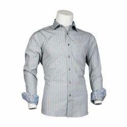 Mens Full Sleeves Striped Formal Shirts