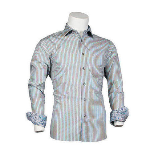 271eae854b7 Mens Full Sleeves Striped Formal Shirts