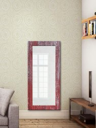 Pink Matte Printed Long Full Length Mirror for Home