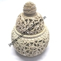 Soapstone Potpuri Box With Painted