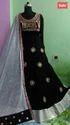 Dark Pink Color Net Salwar Kameez
