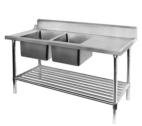 Stainless Steel Sink Dish Wash With Table