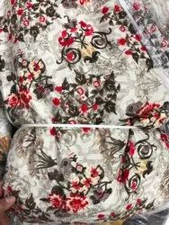 Printed 44-45 Inch Cotton Fabric Dress, GSM: 100-150