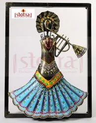 Multicolor Wrought Iron Musician Wall Hanging