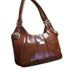 Shareef Arts Plain Ladies Side Leather Bag