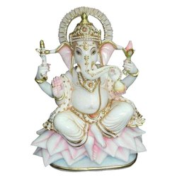 Multicolor Marble Ganesha Moorti, Size: 18 (h)