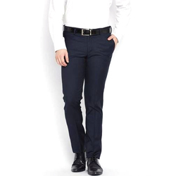 Mens Dark Blue Formal Trousers
