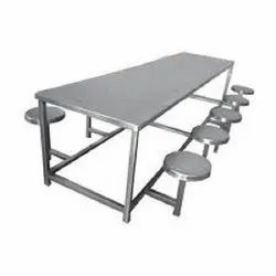 Mild Steel Canteen Table With Folding Stool