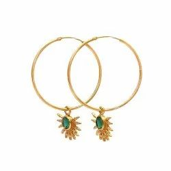 Half Sun Hoop Earrings