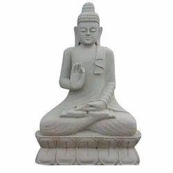 Usha White Marble Gautam Buddha Statue