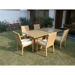 Outdoor Synthetic Rattan Furniture Warranty 2 Year Rs 32000 Set