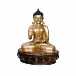 Brass Gautama Buddha Statue