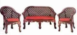 Modern Camel Check Nilkamal Luxury Fabric Plastic Sofa Set, For Home, Living Room