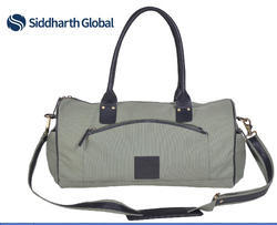 Siddharth Canvas With Leather Handles Canvas Cotton Duffel Bag
