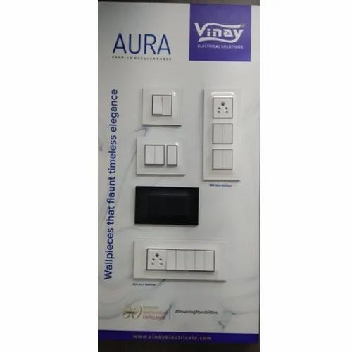 Vinay Aura Electrical Modular Switches, Voltage: 220-240 V