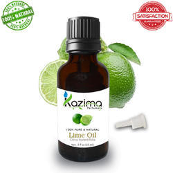 KAZIMA Lime Oil - 100% Pure, Natural & Undiluted Essential