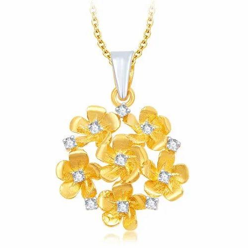 Flower Design Gold Plated Pendant At Rs 1100 Piece Gold Plated