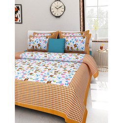Pure Cotton Multi Colour Bedsheet