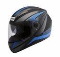 Studds Multicolor Shifter D2 Decor Full Face Helmet Matt Black With Blue, Size: L