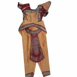 3fd990aad2cb Orange, Red Semi Silk Classical Dance Costume, Size: 26 - 40 Inches