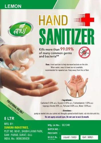 HAND SANITIZER 5 LTR