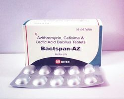 Cefixime200mg Azithromycin250mg Lactic Acid Bacillus Tablet