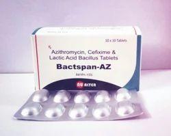 Cefixime200mg Azithromycin250mg Lactic Acid Bacillus Tablet