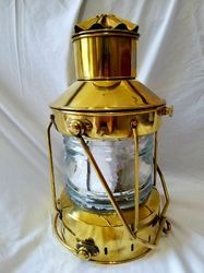 Premium Nautical Solid Brass Anchor Lantern