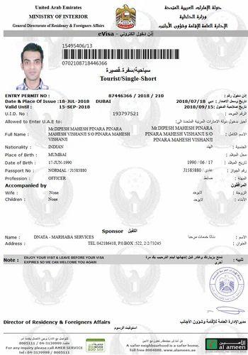 Dubai Tourist And Visit Visa Stamping In Mumbai In Andheri East