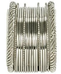 Indian Silver Bangles Set