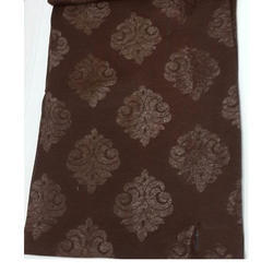 Brown Sparkel Butta Polyester Fabric, GSM: 50-100 GSM