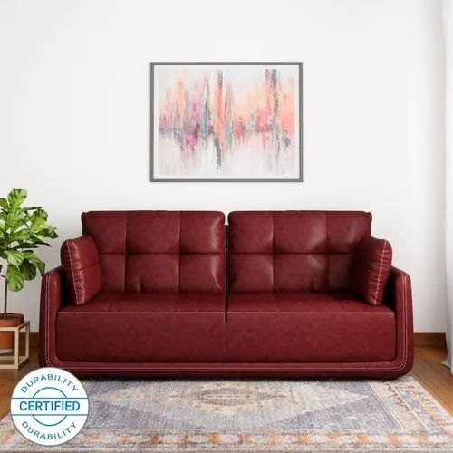 Houzzcraft Cherry 3 Seater Designer Sofa, Warranty: 5 Year
