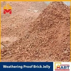 Clay Red Weathering Proof Brick Jelly, Packaging Type: Lorry