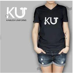 KU Medium and Large Printed T Shirt