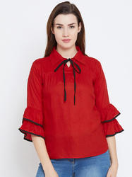 The Dry State Ladies Frill Sleeve Top