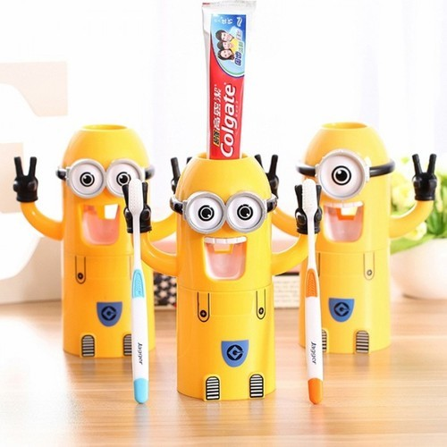 Cute Minions Automatic Toothpaste Dispenser Squeezer