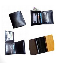 Genuine Leather Black A-118 Mens Leather Wallet
