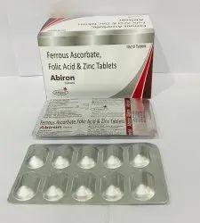 Ferrous Ascorbate Folic Aid & Zinc Tablet - Abiron, Prescription, Treatment: Iron Tablets
