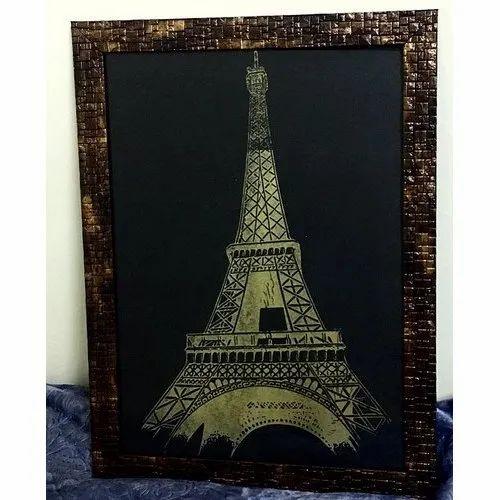 Eiffel Tower Gold Foil Art