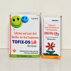 Cefixime and Lactic Acid Bacillus Dry Syrup
