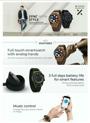 Round Digital Titan Smart Watches, For Daily, Model Name/Number: Connected X