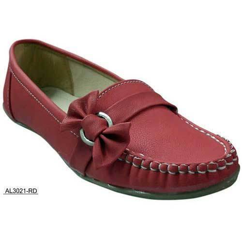 e14d730c86a Causal Ladies Red Loafer Shoes