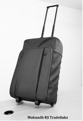 Black and Red Rainmaker Luggage Trolley Bag