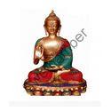 Multicolor  Brass Buddha Statue