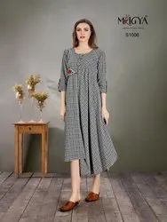 Fancy Grey Cotton Kurti