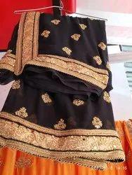 Zari Dasti color Black Fancy Saree