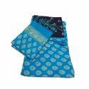 Ladies Blue Unstitched Khadi Printed Suit